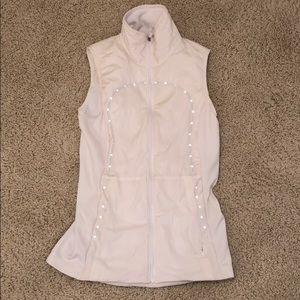 White lulu lemon reflective vest